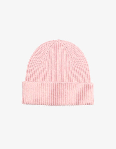 MERINO WOOL BEANIE - FADED PINK