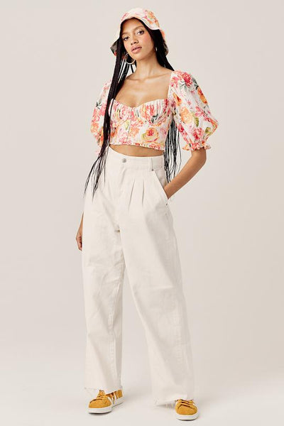 PEONY CROPPED BLOUSE