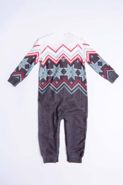 INFANT ROMPER FESTIVE FAIR ISLE PJ