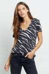 CARA - BLACK ABSTRACT TIGER TEE