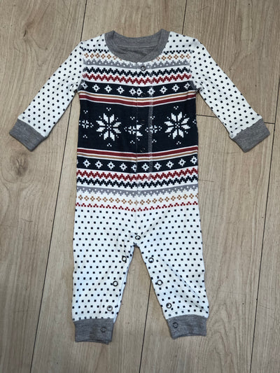 LET'S GET TOASTY FAIR ISLE INFANT ROMPER