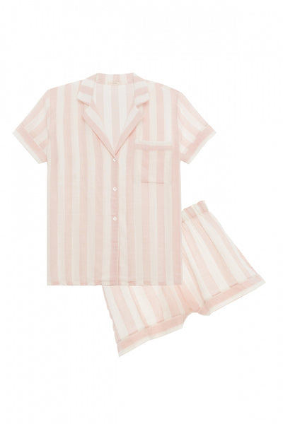 UMBRELLA STRIPES WOVEN SHORT SET