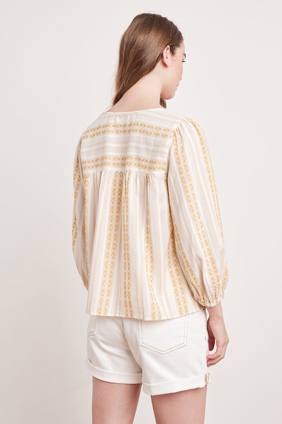 WINTER - STRIPE JACQUARD V NECK TOP