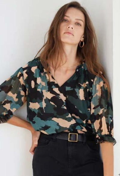 ULI - CAMO VISCOSE TOP