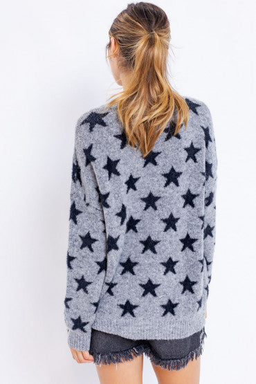 STARS SWEATER - GREY