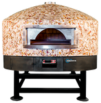 "Univex DOME47RT Stone Hearth Rotating Deck Oven, 47"" interior, Round Top exterior"