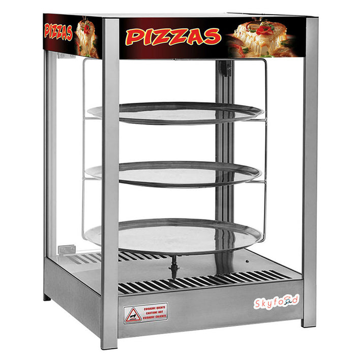 "Skyfood PD3TS18 Pizza Display Case, Triple Tray 18"", Steam Line"
