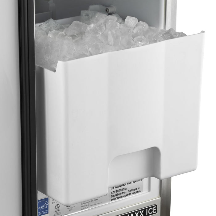 MIM50-O Maxx Ice Outdoor 50 lb Self-Contained Ice Machine, Stainless