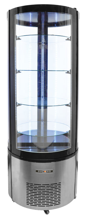 Omcan RS-CN-0400-R 27-inch Circular Refrigerated Showcase with 400 L capacity, item 40440