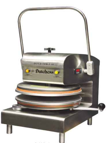 "Dutchess DUT/D-TXM-2-18-WH Dual Heat 18"" Round Platen, Manual Tortilla/Pizza Press (White powder coat finish) 220V"