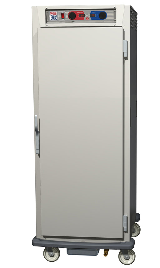 Metro C599-NFS-UA C5 9 Series Reach-In Heated Holding Cabinet, Full Height, Aluminum, Full Length Solid Door, Universal Wire Slides