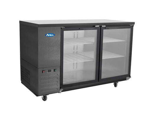 "Atosa SBB48GGRAUS2 48"" 2 Door Shallow Depth Back Bar Cooler With Glass Doors, 11.5 Cu. Ft."