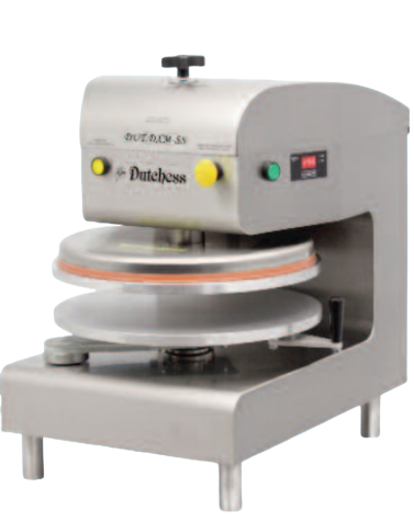 "Dutchess DUT/DXE-SS Top Heated 18"" Round Platen, Auto-Electric Pizza Press (Stainless Steel finish) 220V"