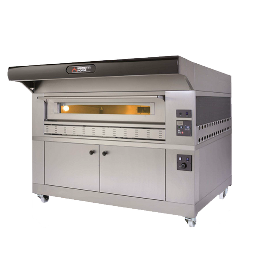 "Moretti Forni P150G A1 Single Deck Gas Pizza Oven With Proofer, 58"" X 34"" X 7"" Deck Measurement"