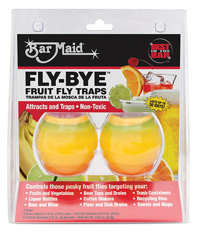 Bar Maid FLY-BYE Fruit Fly Traps Case of 6 packages/2 per package - RestaurantStock.com