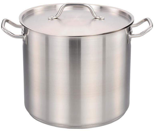 Omcan 80441 24 QT Stainless Steel Stock Pot with Cover