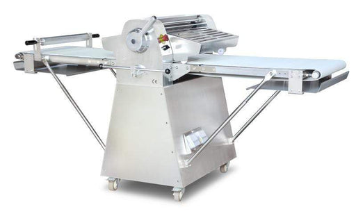 Omcan BE-CN-2083-FSS Stainless Steel Floor Model Dough Sheeter with 108-inch Conveyor Length and .75 HP 44135