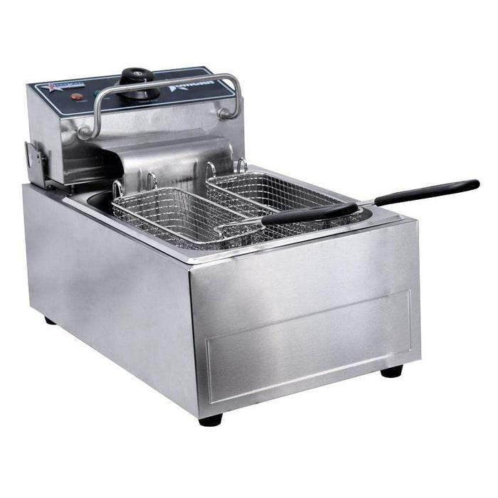 Omcan CE-CN-0006 110 V Single Table Top Electric Fryer 34867