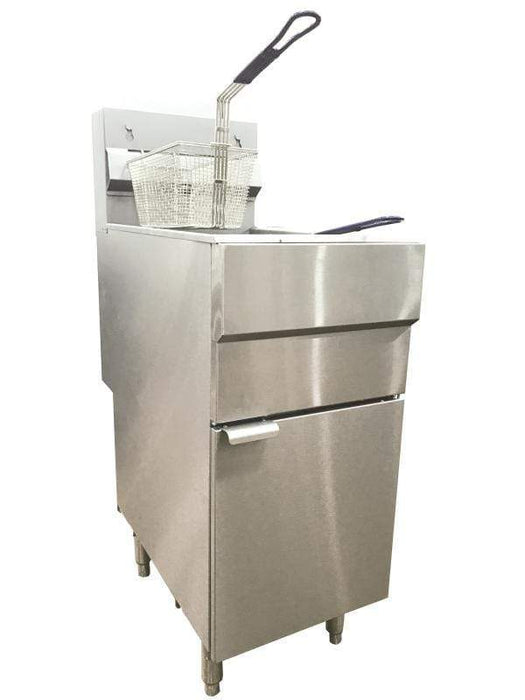 Omcan CE-CN-0025-FN Natural Gas Floor Fryer with 120,000 BTU 46019