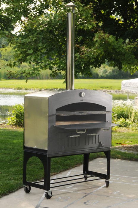 Omcan CE-CN-1677 46-inch Outdoor Wood Burning Oven with Stainless Steel Oven Shelf 31313