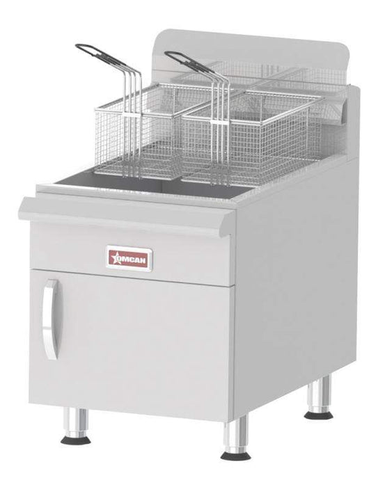 Omcan CE-CN-UR-CF30-LP Commercial Countertop Propane Gas Fryer with 53,000 BTU and 30 lb. Oil Capacity 43089