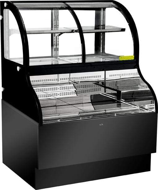 Omcan RE-CN-0483 48-Inch Dual Service Open Refrigerated Floor Display Case