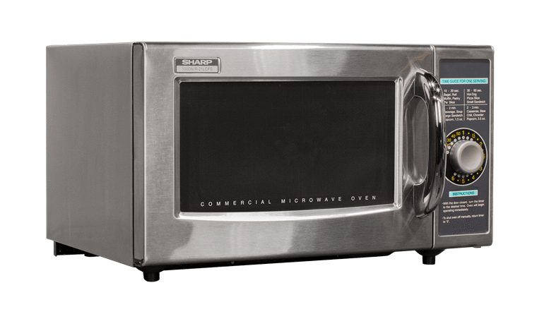 Sharp R-21LCFS Medium Duty Commercial Microwave with 1000 watts