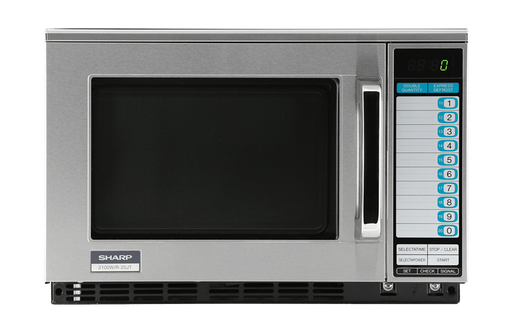 Sharp R-22GTF Heavy Duty Commercial Microwave Oven with 1200 Watts