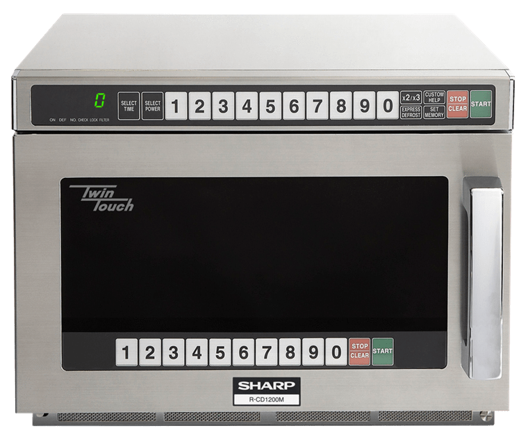 Sharp R-CD1200M Twintouch Commercial Microwave with Dual Touch Pads