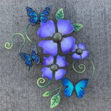 Hummingbird Butterfly Wall Sculptures