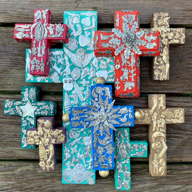 Milagros Cross Folk Art