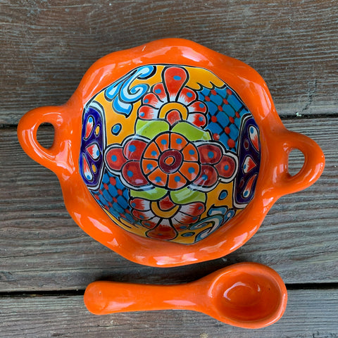Talavera Salsa Bowl with Spoon