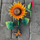 sunflower butterfly hummingbird