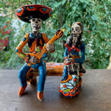 Mexican Catrina Couple on a Bench