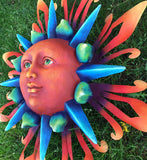 Metal Crafted Colorful Sun Large