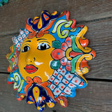 Mexican Pottery Garden Wall Sun