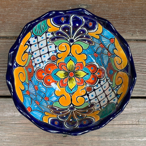 Talavera Salad Serving Bowl