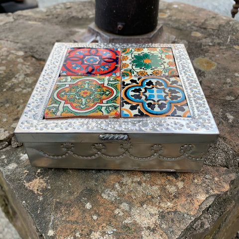 punched tin box