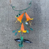 Hummingbird Wall Sculpture