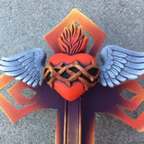 Winged Sacred Heart Cross