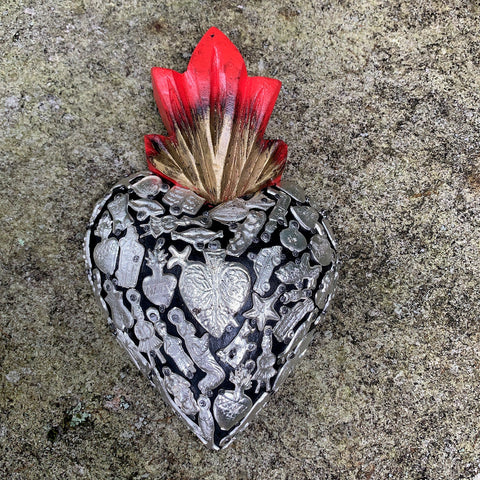 Milagros Folk Art Heart