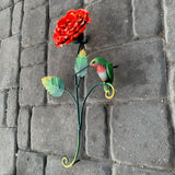 Rose Hummingbird Wall Sculpture