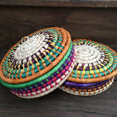 Tortilla Basket / Set of Two Woven Baskets