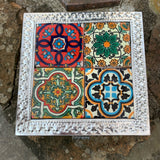 talavera tile tin box