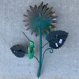 Sunflower Hummingbird Sculpture