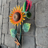 Sunflower Butterfly Hummingbird Sculpture