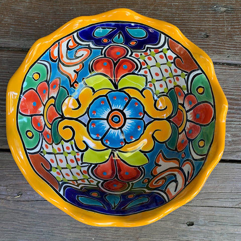 Mexican Talavera Salad Bowl