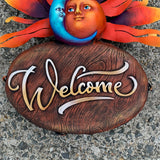 Sun and Moon Welcome Sign