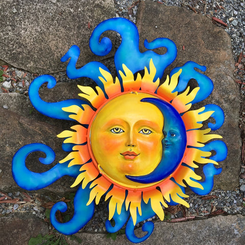 Metal Crafted Sun and Moon Large