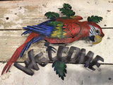 Handcrafted Welcome Parrot